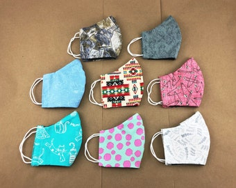 3 Layer Face Mask - Multiple Fabric Choices