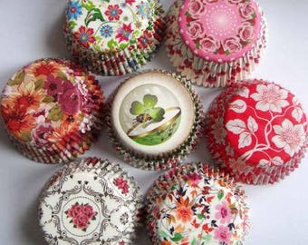 100pcs 4 random design flower wedding Cupcake Liner muffin baking Cup cake mold/greaseproof/cupcake wedding/cupcake wrapper/cake liners