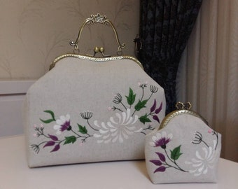 Handmade, Embroidery, Cross Stitch, Handbag and Coin Purse