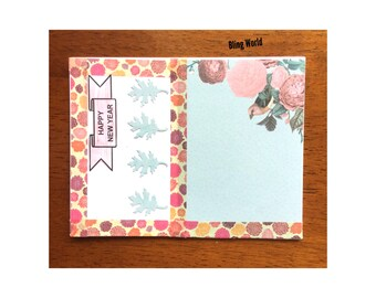 handmade new year card holiday seasonal greeting cards