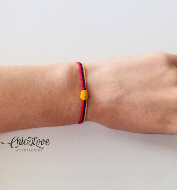 Colombian Jewelry Heart Colombian Bracelet Colombian Bracelet Colombian Flag,