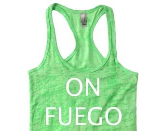 LIT/ On FUEGO Tank/ On FIRE Top/ Summer Tee/ Women's Tank/ clink 2night™