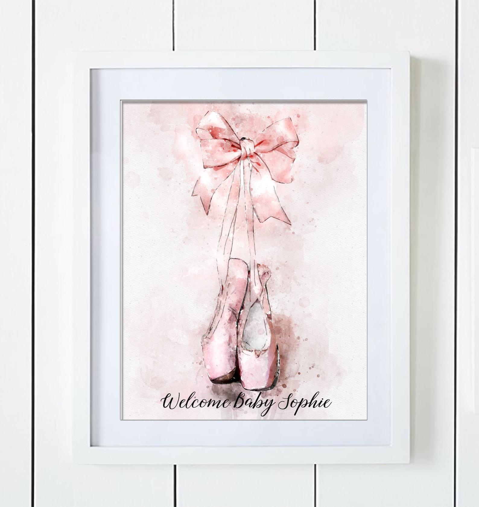 ballet shoes guest book alternative for signatures girl baby shower birthday ballet school acceptance graduation