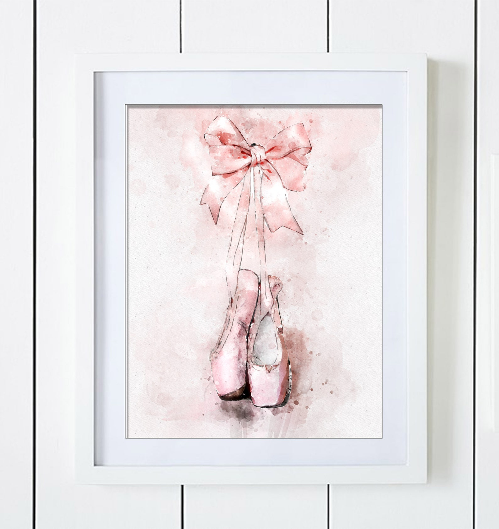 ballet shoes guest book alternative for signatures girl baby shower birthday graduation instant download digital file printable