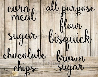 Farmhouse Pantry Labels~Farmhouse Decor~Kitchen Organization~Kitchen Decor~Pantry Label Decals~Vinyl Pantry Labels~Pantry Label Set~Labels
