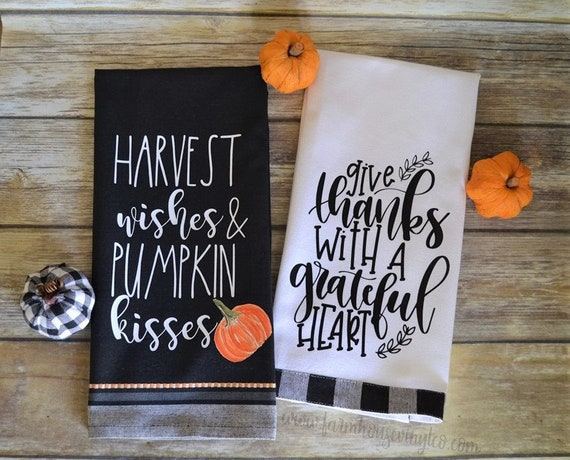 Rae Dunn Inspired Fall Towels