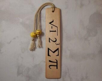 Bass wood Bookmark w/I 8 sum Pi