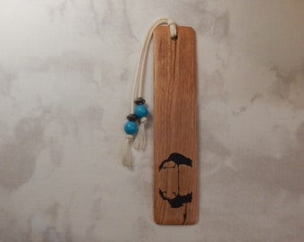 Cherry Wood Bookmark w/crane