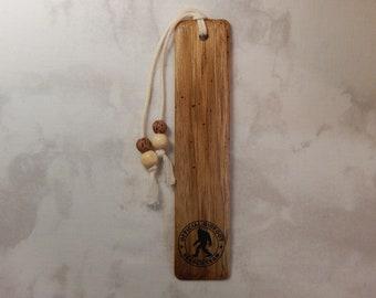 Butternut Wood Bookmark w/bigfoot