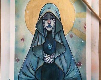 Blue Diamond Original Watercolor