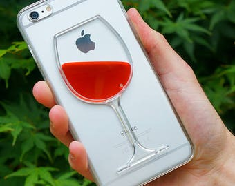 Red Wine iPhone Case with Moving Red Liquid for iPhone 7, 7 Plus, 6, 6 Plus, 5, 5s - BRAND NEW