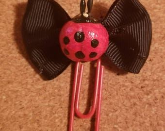Spring CLEARANCE! Ladybug Planner Clips  Red and Black Paper Clips Journaling