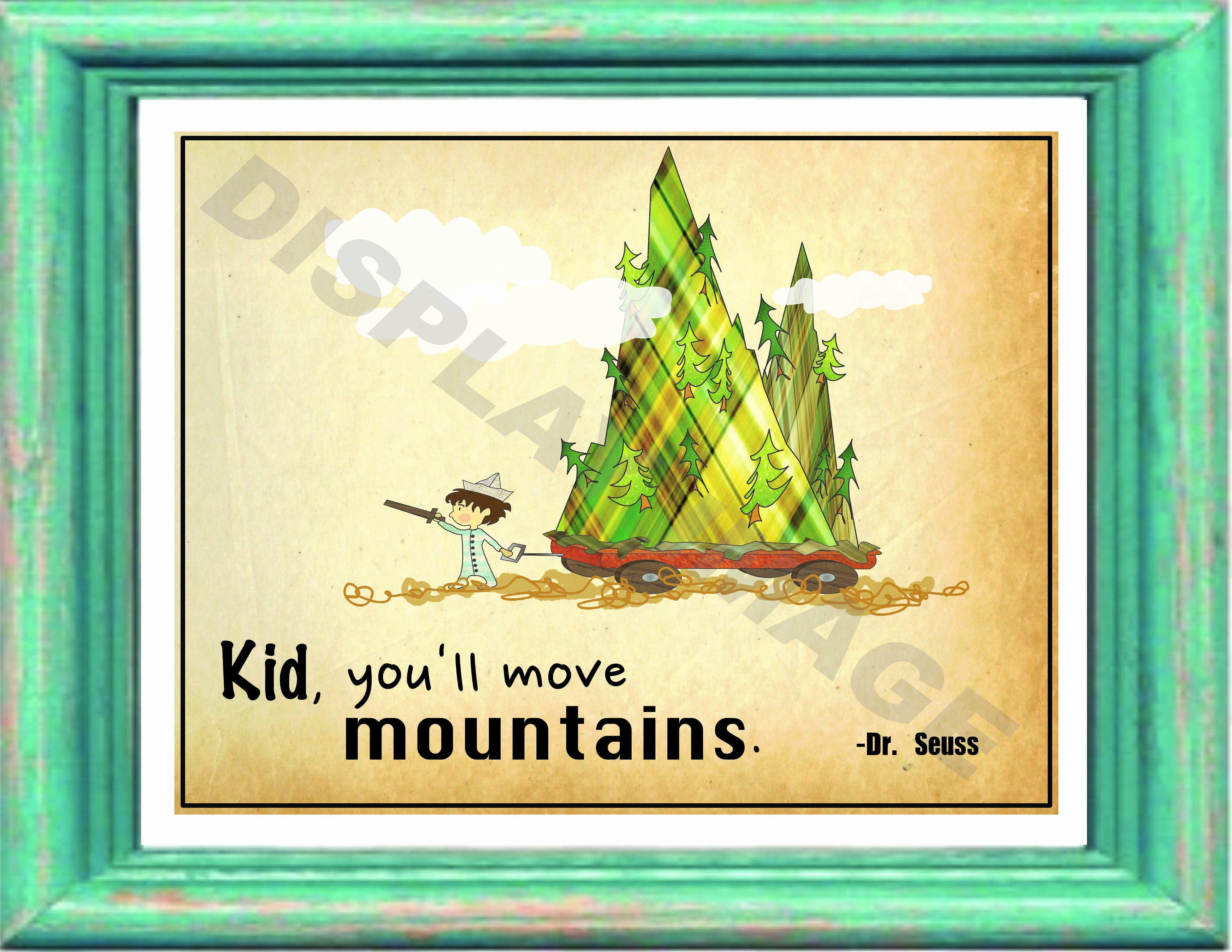 Dr. Seuss Wall Art Printable Mountains | Etsy