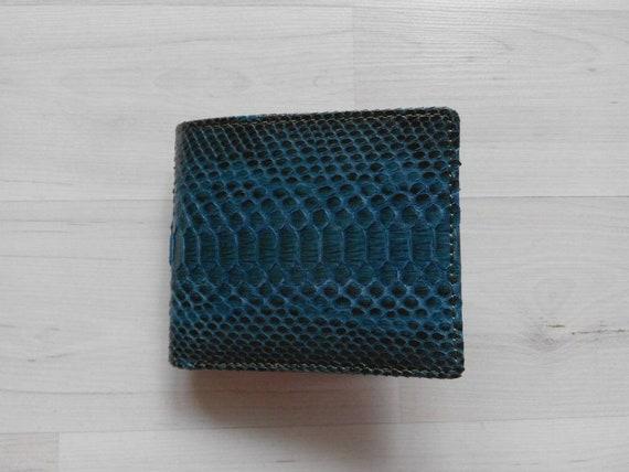 Men Snake Python Bi-fold New Design Leather Wallet Natural Gray