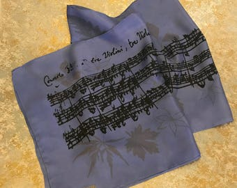 Silk Scarf Printed with Brandenburg Concerto #3