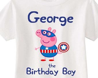 2d0b0f2a5 Peppa Pig George Pig George Pig Shirt Peppa Pig Shirt