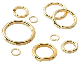 """Findings-Jewellery Making-Necklace 9ct Yellow Gold Jump Ring Heavy /""""Open/"""" 4mm"""