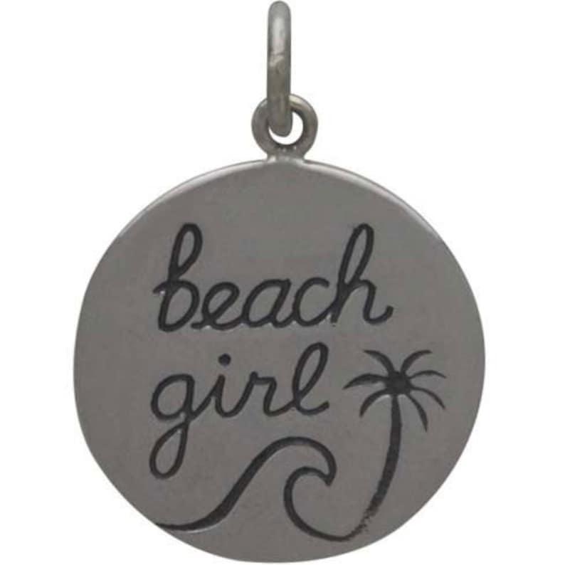 Summer Sun Tag Ocean Travel Surfer Charm Bridal Party Surfing Waves Vacation Surfs up Beach Girl Charm Beach Wedding Swimmer