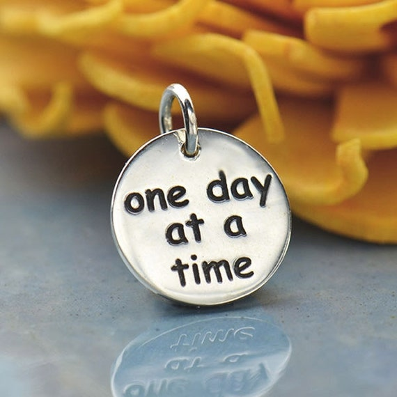 Message Tag One Day At A Time Quotes Tag Matching Etsy