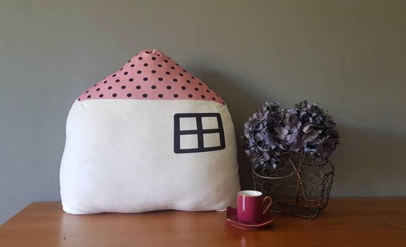 child girl or boy house-shaped cushion plush fabric Baby room