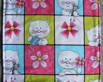 KITTY SLIP n' SLIDE - Refillable, Cotton Print, Handmade & Kitty Approved - Catnip Included