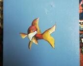 Goldfish goudvis painting...