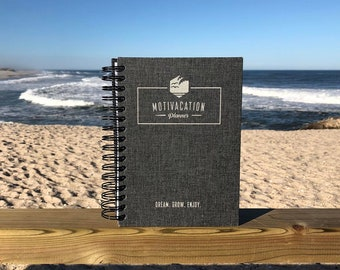 Motivacation Planner - Daily Journal to Make You Happy and Productive - 5 Minute Gratitute, Affirmations, Goal Setting and Weekly Review
