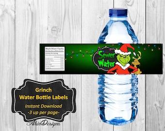 Grinch Labels Etsy