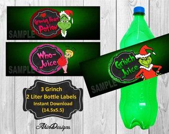 Grinch Label Etsy