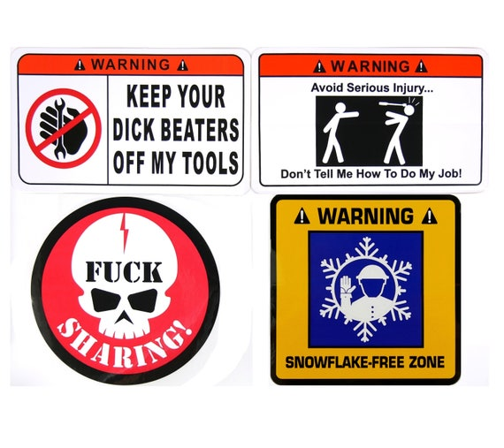 Dirt Bike Stickers Keep Your Dick Beaters Off My Dirt Bike Funny Decal 2 PACK 06