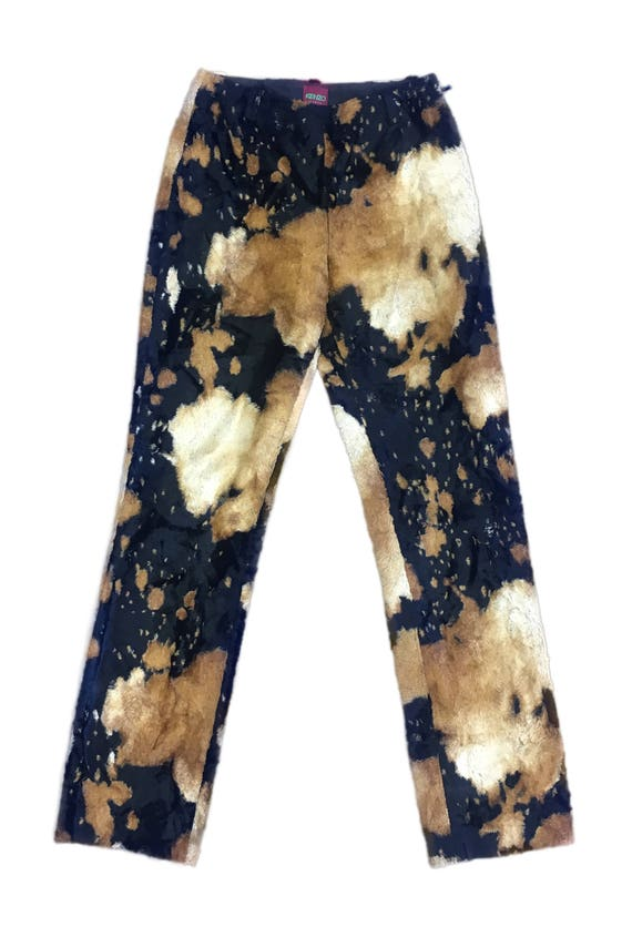 Kenzo Teddy Cow Print Highwaist Pants size 38