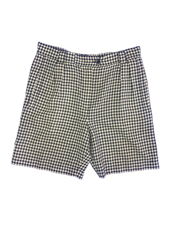 Escada Gingham checked Pleated Shorts Size 38