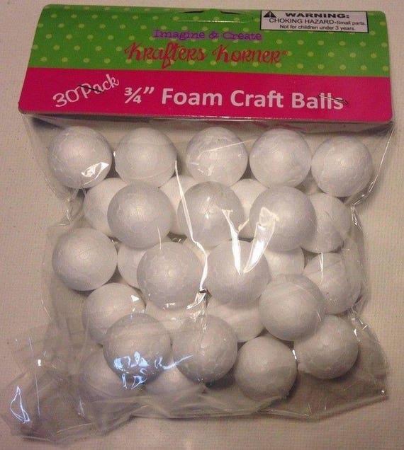 "Foam Styrofoam Craft Balls 30 Pack 3//4/"" Balls"