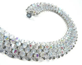 Crystal Netted Necklace