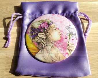 Shiney - thoughts of fairy - Delphine striker Illustration Pocket mirror