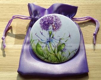 Pocket mirror fairy theme-garlic! That life is beautiful...-illustration Delphine MALAGASY