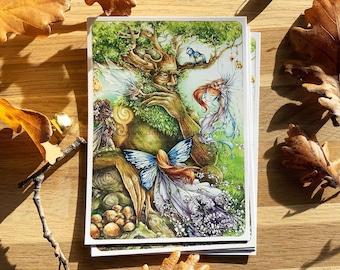 Fairy Postcard - The Fairy Tree - Illustration Delphine GACHE