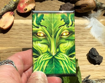 Magnet / Magnet strong adhereancy - Fairy theme - Greenman - Illustration Delphine GACHE