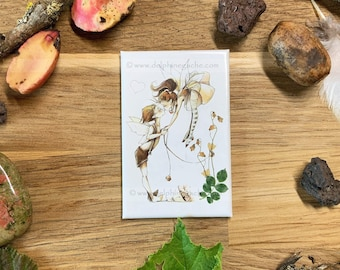 Magnet / Magnet strong adhereancy - Fairy theme - The kiss - Illustration Delphine GACHE