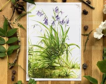 Poster 21 x 30 cm - Fairy theme - Wild - Illustration Delphine GACHE