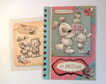 """Geburtstagskarte ausgestopfte Tiere - """"all for you..."""" Alles Gute zum Geburtstag """"+ Umschlag"""