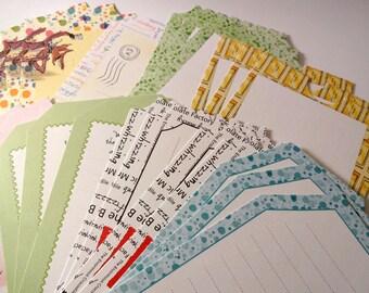 Set of 24 patterned - cardmaking - embellishment - scrapbooking