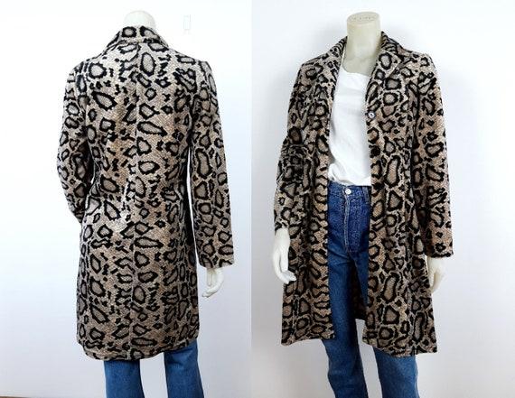 vintage  90s 00s Snake Animal print velour coat
