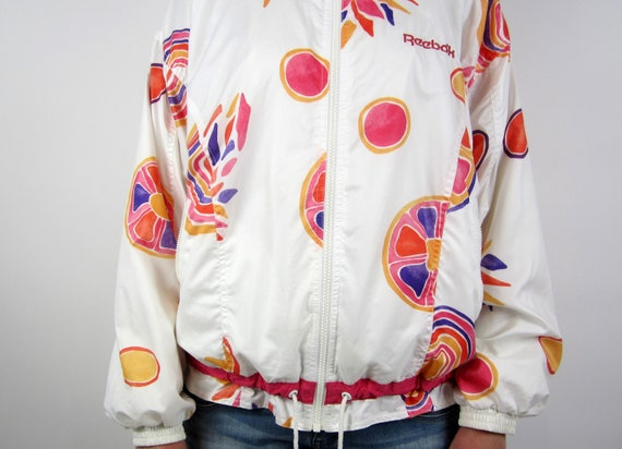 vintage 90s Reebok Jacket windbreaker sports jack… - image 7