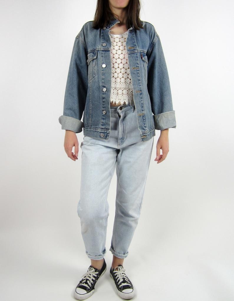 7e88fb6b365 Vintage 80s Levis Levi Strauss & Co denim blue jeans jacket | Etsy