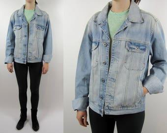 vintage Tommy Hilfiger denim acid wash jacket 90s Medium M