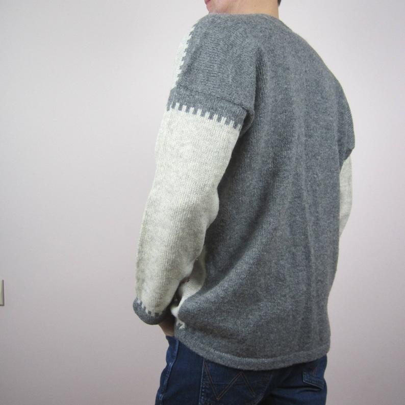 vintage Christmas Fair Isle Nordic chunky knit print lambswool cardigan