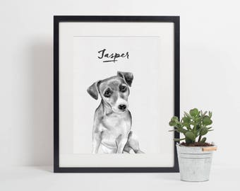 Personalised Jack Russell Print | Dog Print | Pet Print | Dog Printable | Jack Russell Printable | Dog Decor