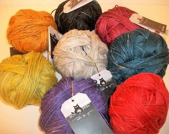 Organic Yarn Organic (Merino) Wool with linen by Schoppel Certified knit or chrochet
