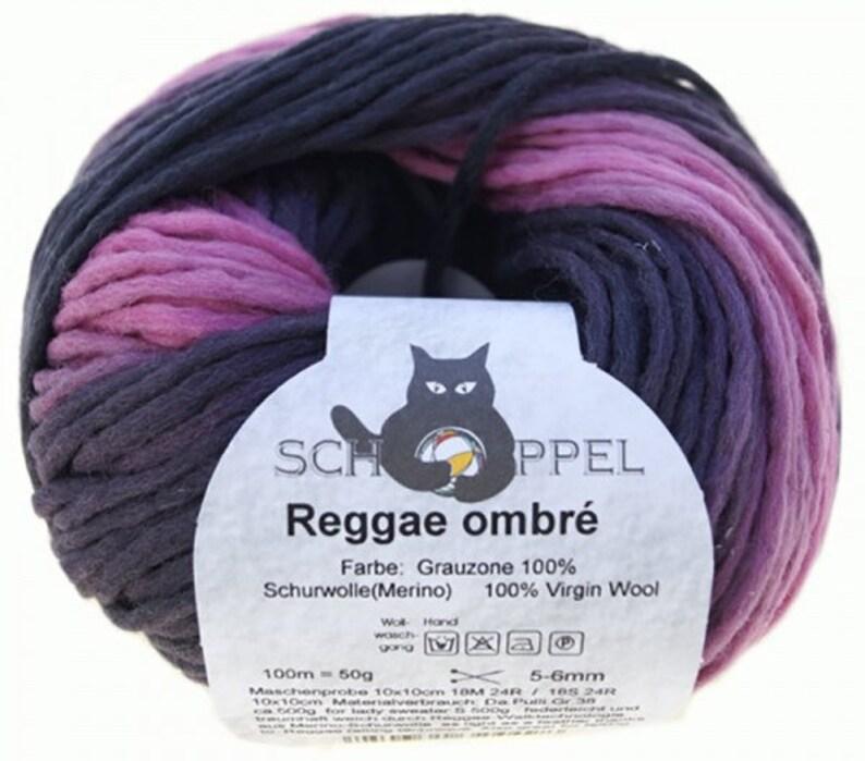Reggae ombre grey area Violents yarn knit Schoppel handmade